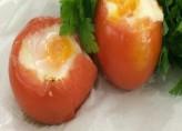 Fırında Yumurtalı Domates
