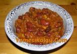 Aci Biber Soslu Barbunya Yemegi Chili Con Carne Tarifi