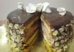 Fındık Karamelli Çikolatalı Pasta Tarifi