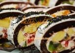 Meyveli Çikolatalı Rulo Pasta Tarifi