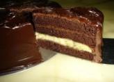 Muzlu Bitter Çikolatali Doğum Günü Pastasi