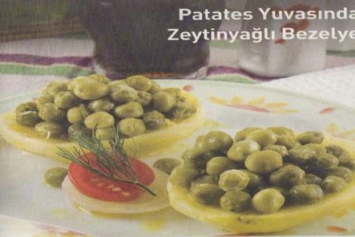 Patates Yuvasında Zeytinyağlı Bezelye
