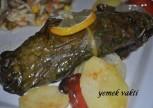 Pazı Yaprağına Sarılı Levrek Balığı Tarifi