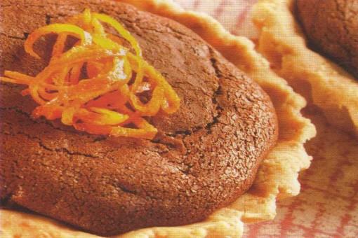 Portakallı Çikolatalı Tart