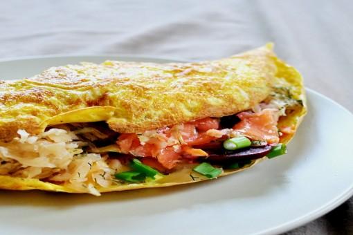 Somon Balıklı Omlet