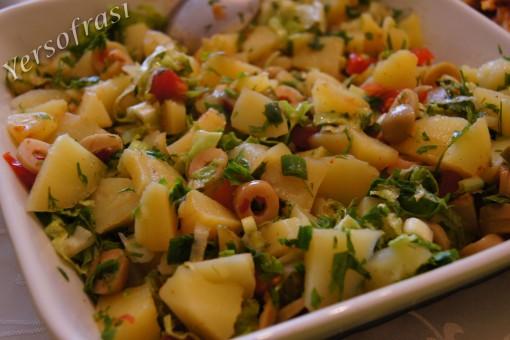 Zeytinli Patates Salatasi